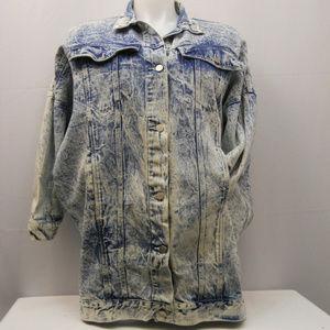Women's VINTAGE Long Denim Jacket SIZE L